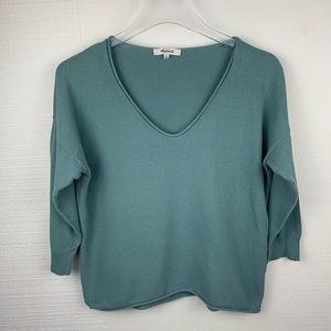Madewell Pale Green Lightweight Sweater, Size M